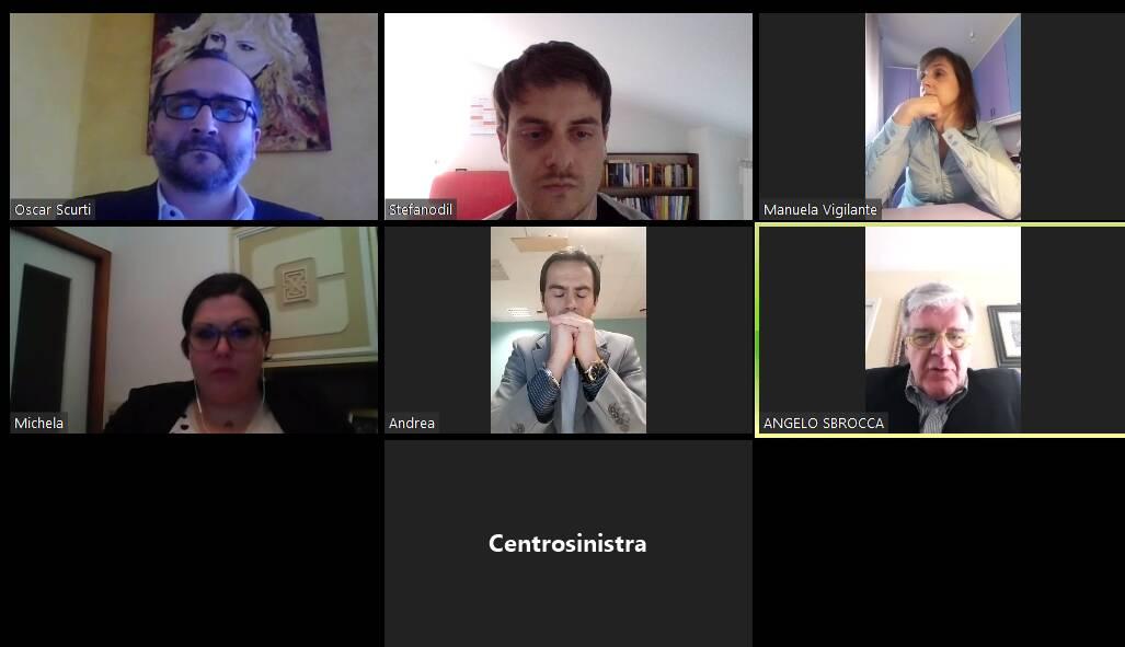 conferenza centrosinistra zoom