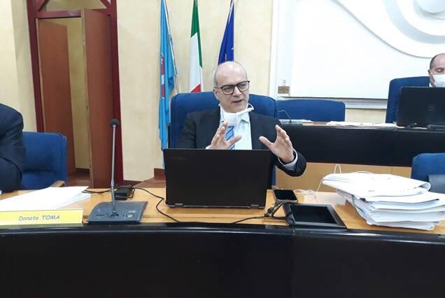 Toma consiglio regionale bilancio
