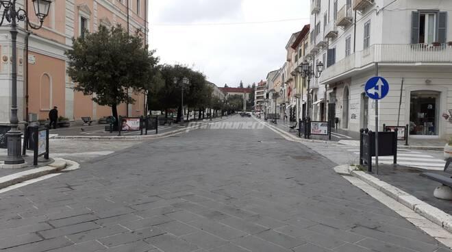 Corso Campobasso vuoto