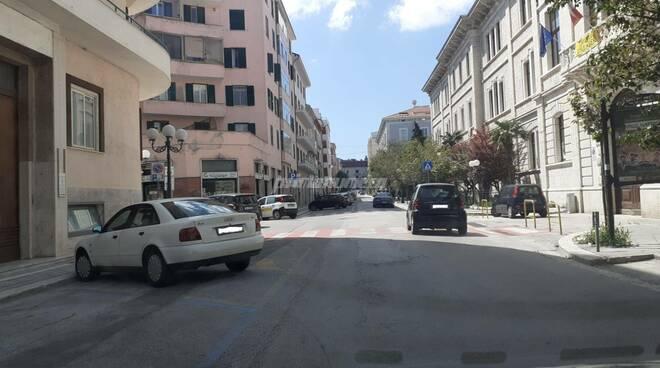 Campobasso traffico covid via Roma