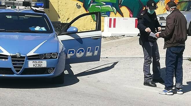 Campobasso Polizia polstrada, volante, covid19