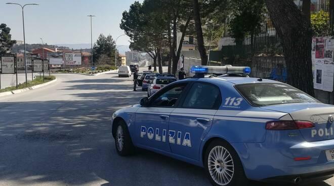 Polizia Campobasso polstrada, volante, covid19