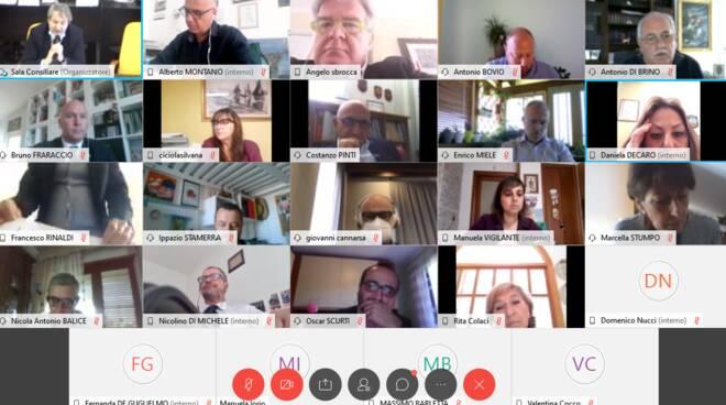 consiglio comunale Termoli video conferenza