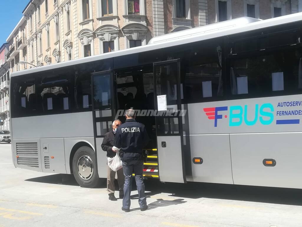 Stazione Campobasso polizia bus fase 2