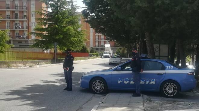 Polizia Via Liguria rom covid Campobasso