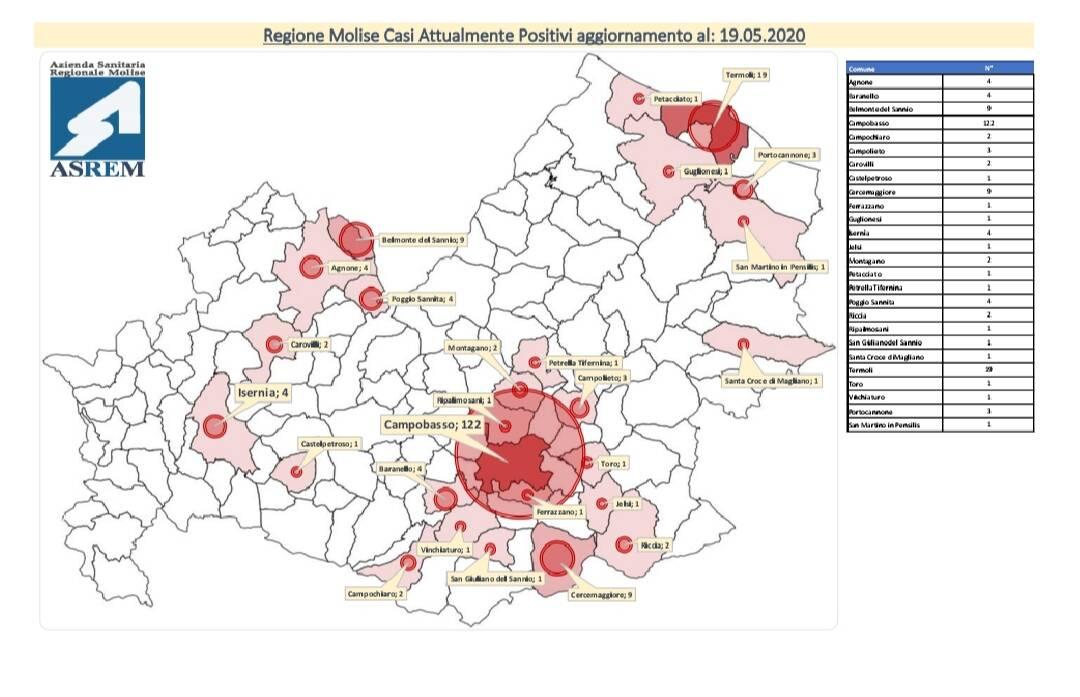 mappa contagi 19 maggio