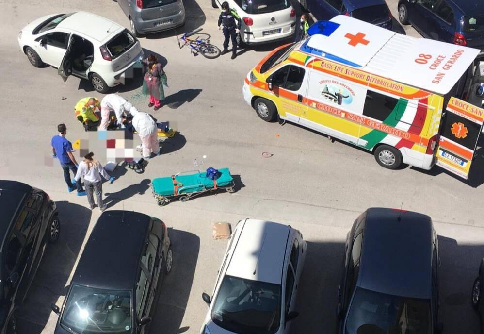 Incidente Campobasso ciclista fortunato lollis