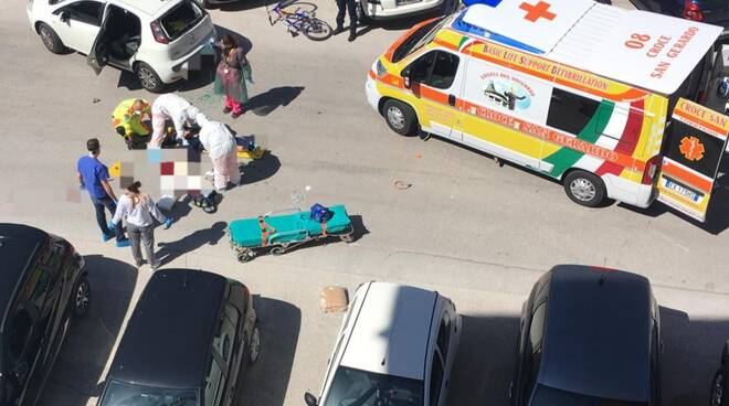 Incidente Campobasso ciclista fortunato lollis