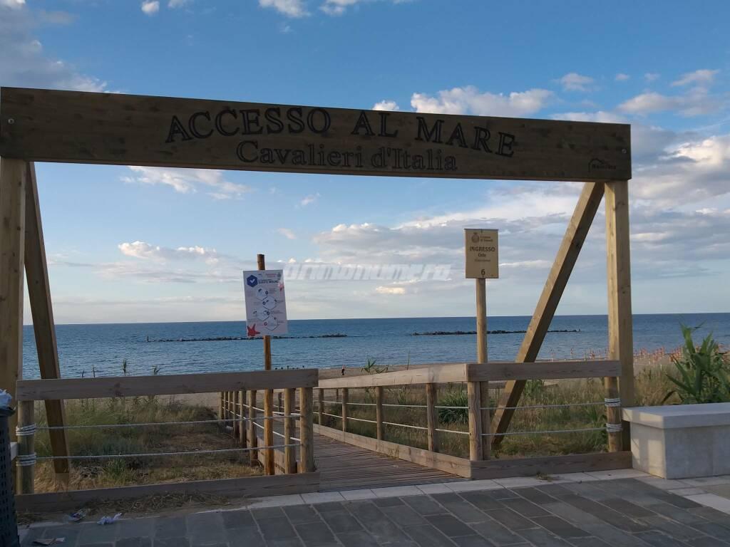 cartelloni accesso al mare spiaggia libera termoli
