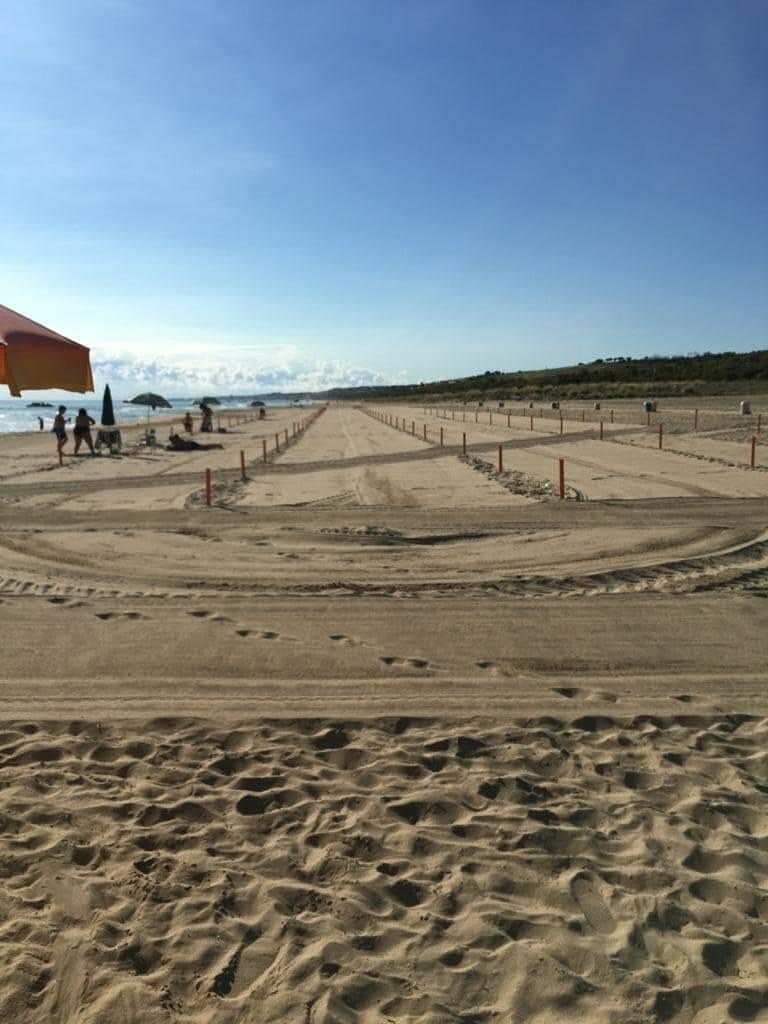 spiaggia libera petacciato paletti distanziamento