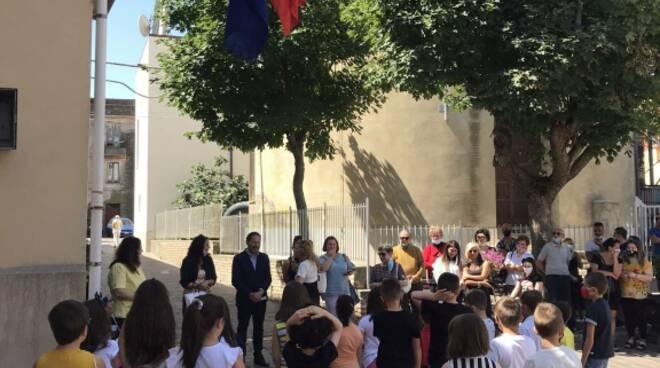 Guglionesi sindaco Bellotti e studenti