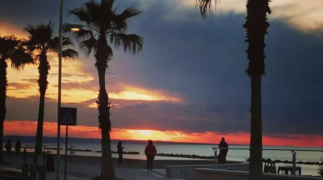 Lungomare termoli tramonto speranza palme
