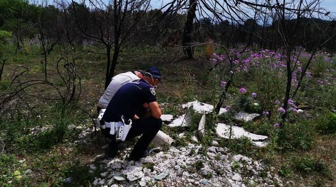 polizia locale Campomarino analisi rifiuti discarica