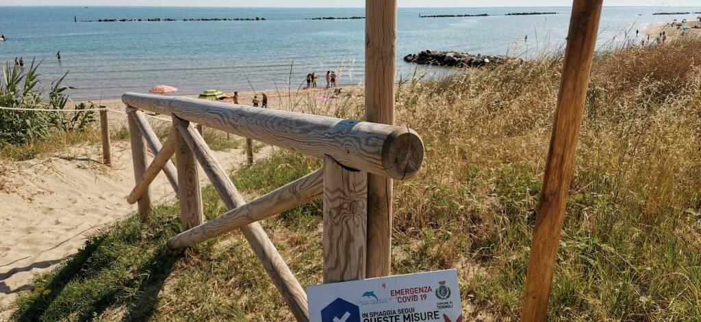 Spiaggia libera termoli nord giugno 2020