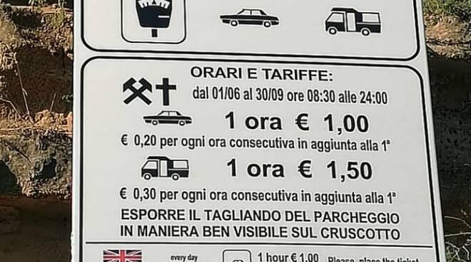 Cartelli pagamento parcheggio lungomare