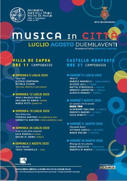 Musica in città cartellone