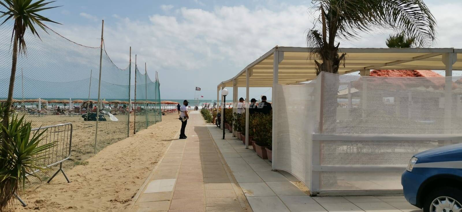 polizia spiaggia rio vivo