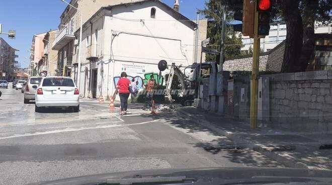 Campobasso Lavori via Delle Frasche