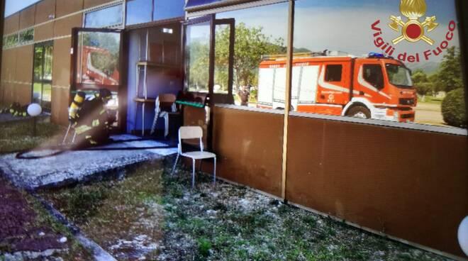 incendio centro medico Pozzilli