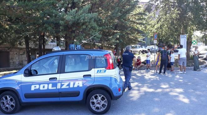 Polizia Cardarelli tamponi bambini campus