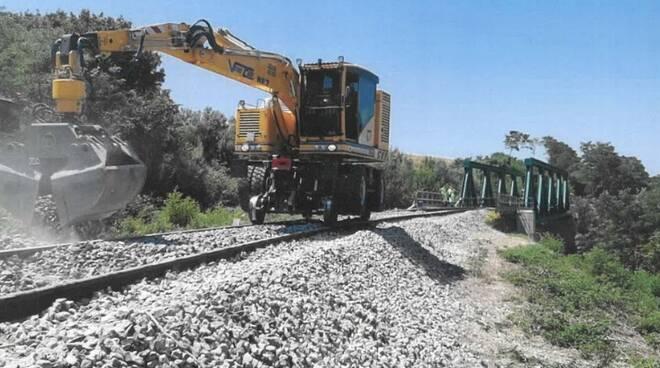 Lavori ferrovia treno Campobasso Termoli