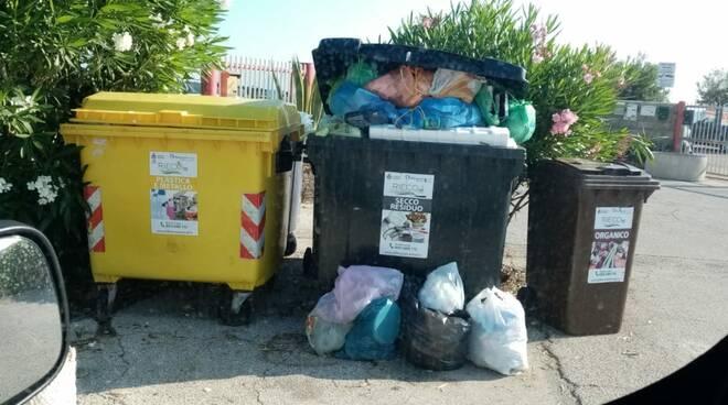 immondizia rifiuti lungomare nord