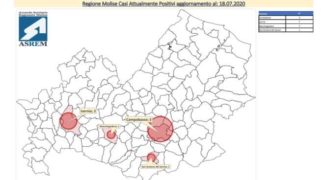 mappa covid 18 luglio