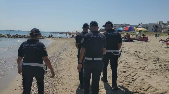 Polizia Locale Campomarino spiaggia
