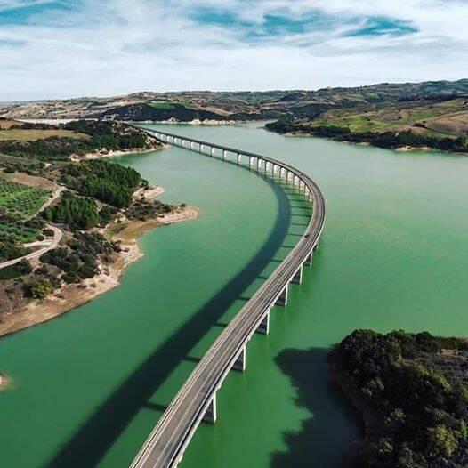 ponte liscione acqua diga guardialfiera