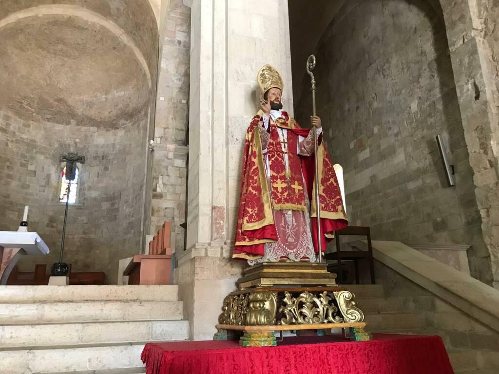 san basso statua mascherine cattedrale programma covid 2020