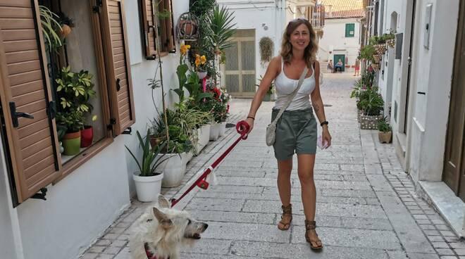 Silvia e cane ginger