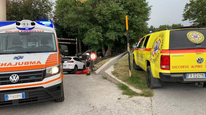 Capracotta ambulanza 118 cnsas giardino flora appenninica