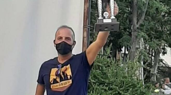 Fabio Emanuele sul podio