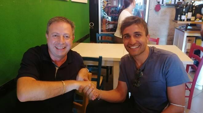 Albino Fazio con il presidente Iacovelli