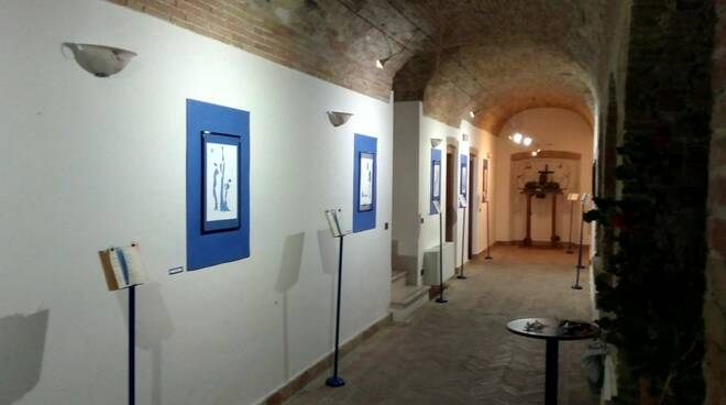 Fiori blu mosta multimediale