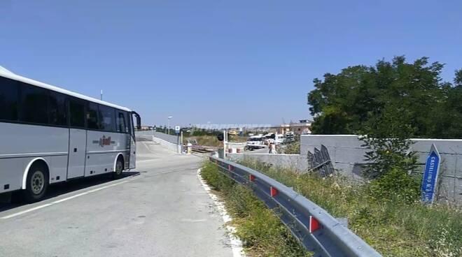 passaggio a livello Matrice treno Campobasso Termoli