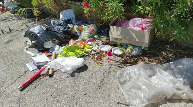 rifiuti discariche via dei lecci