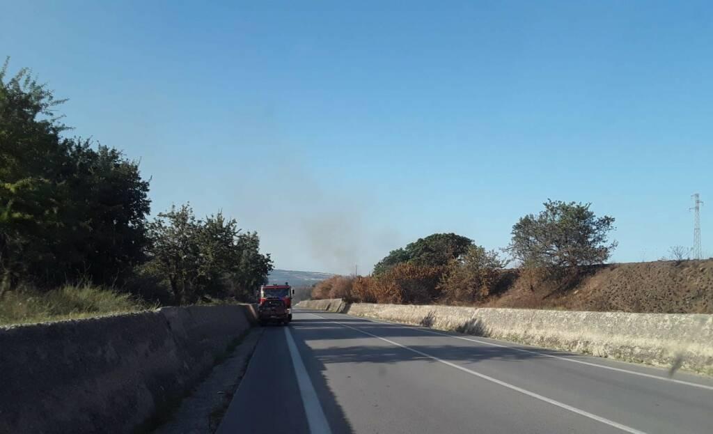incendio piane larino fumo