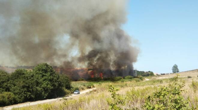 incendio vicino fornace termoli