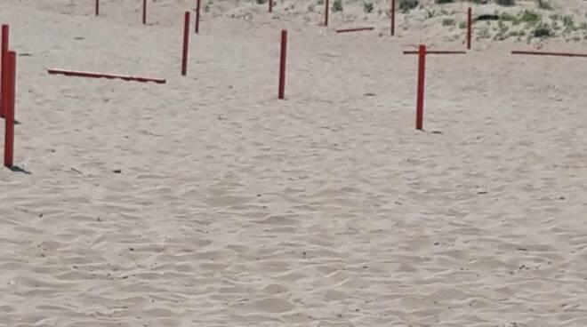 paletti distanziamento rotti vandali campomarino