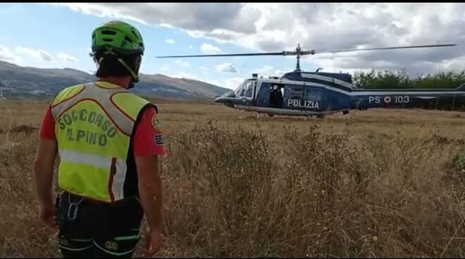 Soccorso alpino elicottero polizia