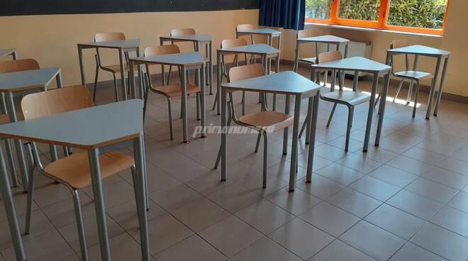 Scuola Pertini Campobasso banchi