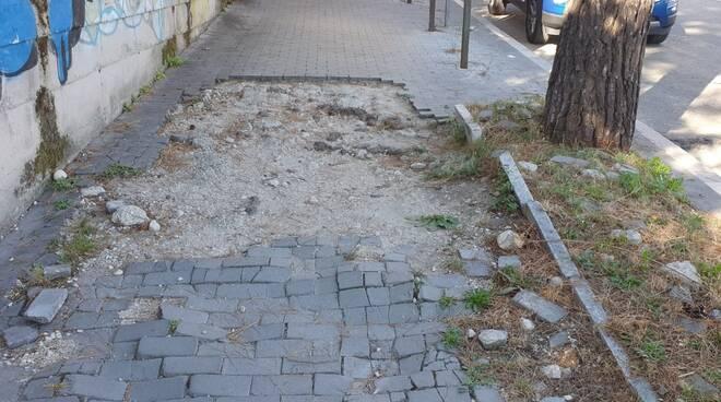marciapiedi via trivisonno campobasso