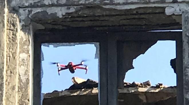 drone rilievi vigili chiesa bruciata guglionesi