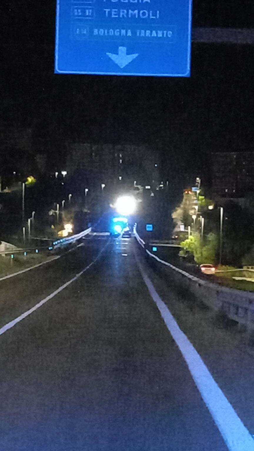 incidente in Tangenziale Campobasso