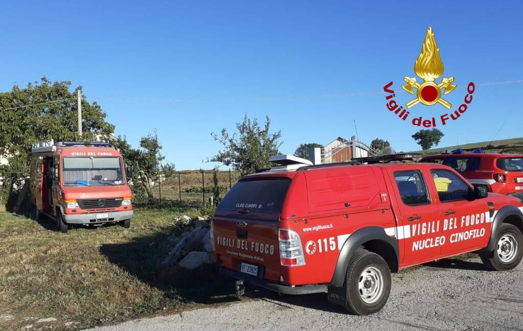ricerche scomparsa vigili del fuoco