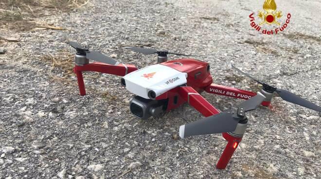 ricerche scomparsa vigili del fuoco drone