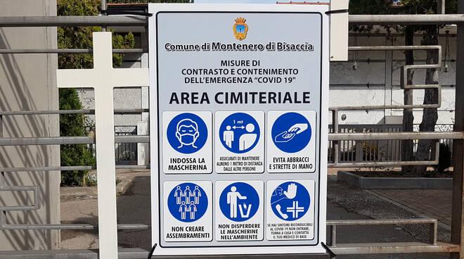 cartello informativo cimitero Montenero