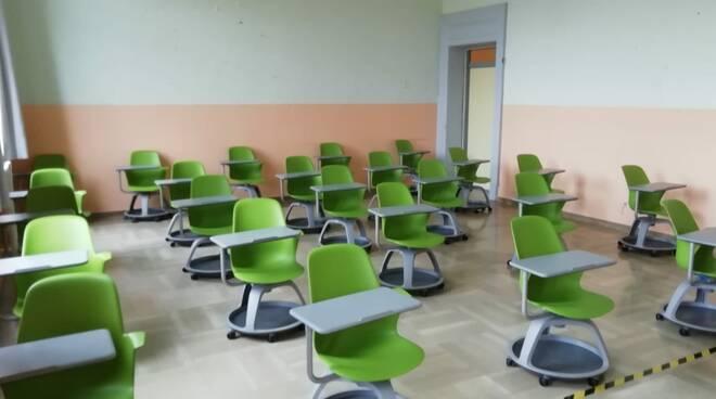 Classe banchi rotelle scuola liceo Guglionesi