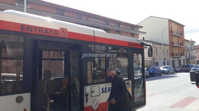Seac autobus Campobasso mascherina covid